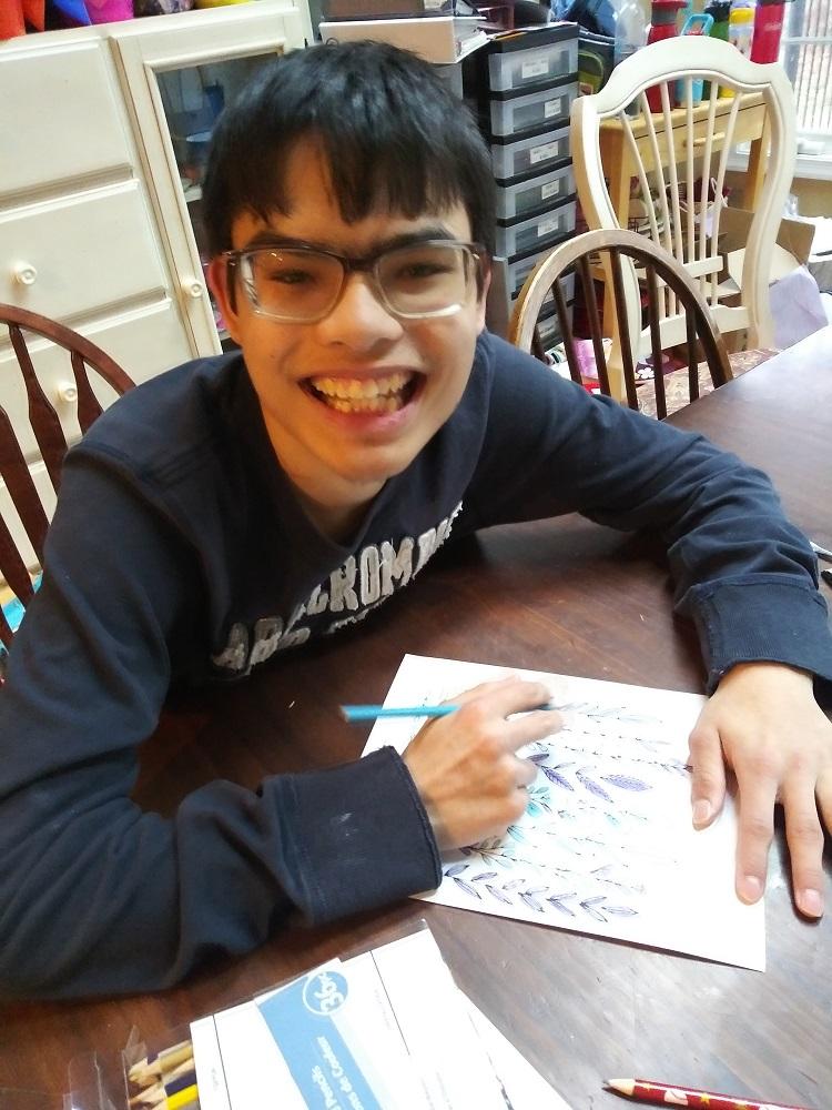 Club Create member drawing at home