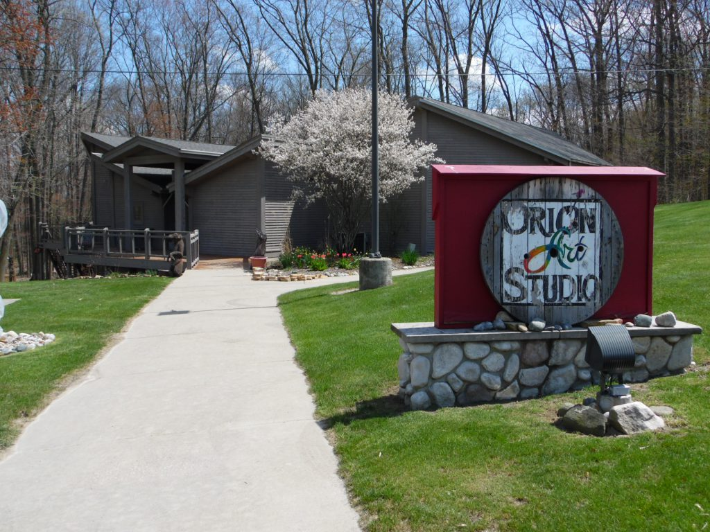Orion Art Studio outside picture in spring